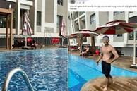 Xôn xao hình ảnh các 'sư thầy' Tịnh Thất Bồng Lai đi resort tránh nắng, khoe body 6 múi ở hồ bơi sau ồn ào bị điều tra