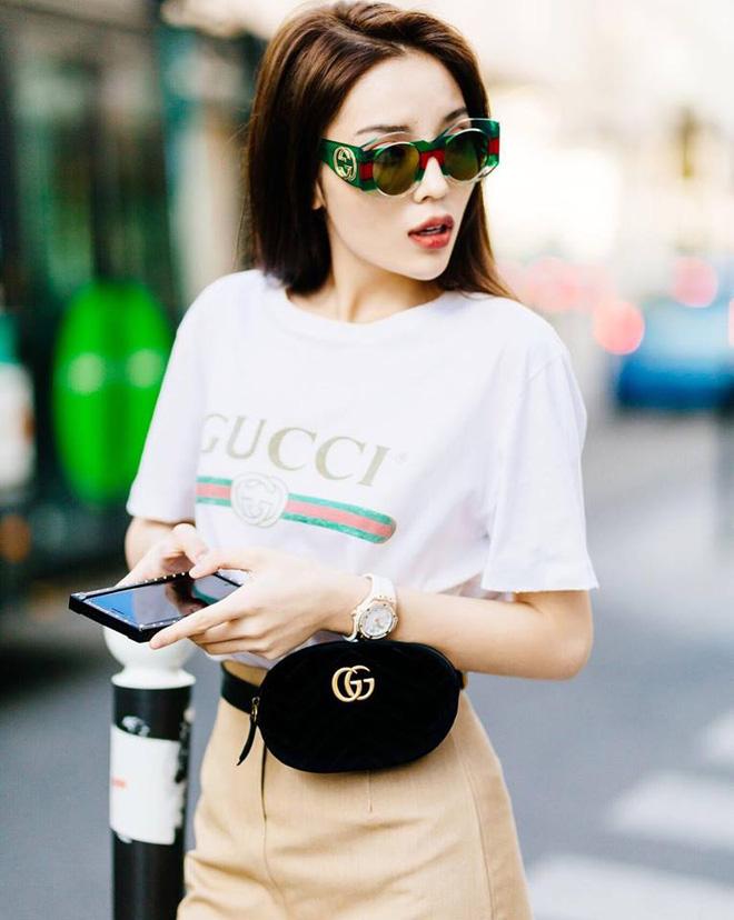 Trước danh sách dài dằng dặc các người đẹp Vbiz diện túi Gucci, MC Mai Ngọc lại một mình một kiểu lên đồ chẳng giống ai-4