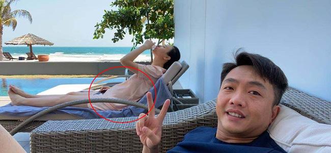 Cường Đô la khoe chân dài bất ngờ, hóa ra là nhờ công chăm chút của bà xã Đàm Thu Trang-2