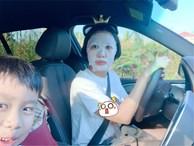 Best tranh thủ: Ốc Thanh Vân vừa đưa con đi học vừa đắp mặt nạ