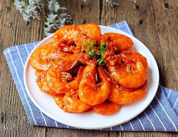 Rang, rim mãi cũng chán, đem tôm sốt cà chua kiểu này cơm nấu nhiều lại nhanh hết-5