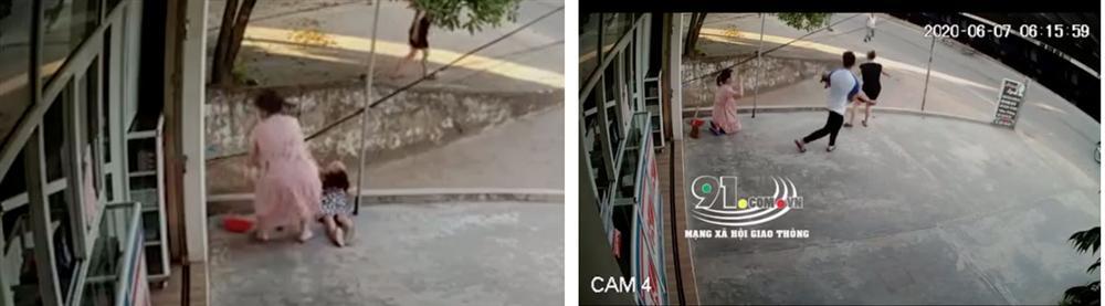 Clip: Hoảng sợ cảnh bé gái ngã gục bất động sau khi bám tay vào đường dây điện, nghi bị điện giật-2