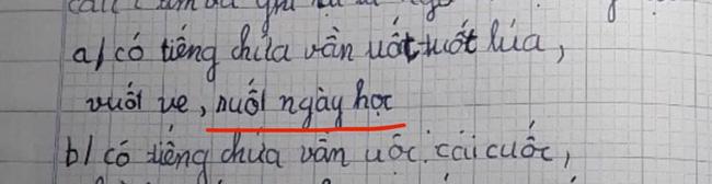 Yêu cầu học sinh tìm tiếng có vần uốt, cô bé làm ngon ơ nhưng đáp án thứ 3 không sai vẫn khiến cô giáo toát mồ hôi-1