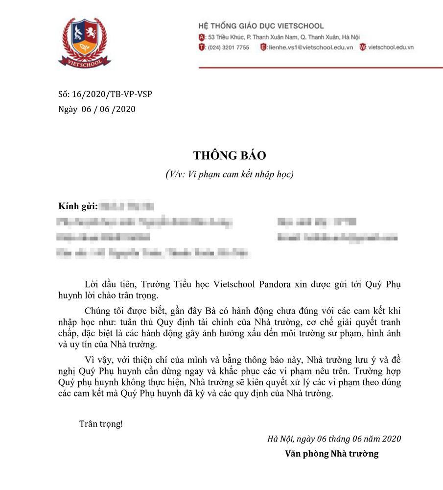 Vụ việc phụ huynh Trường tiểu học Vietschool phản đối chính sách học phí: Nhà trường chính thức phản hồi-3