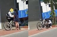 Đạp xe dưới trời nắng gần 40 độ đến tặng quà cho bạn gái, chàng trai bị 'phũ' ngồi gục bên đường