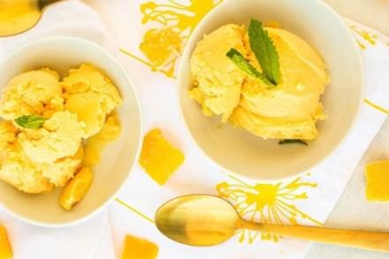 Cách làm kem xoài mềm mịn không cần máy