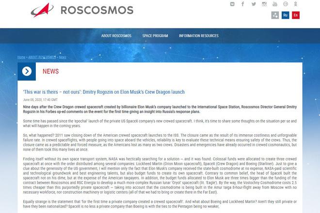 Cơ quan vũ trụ Nga bất ngờ đổi giọng cay nghiệt khi nói về thành công của SpaceX-3