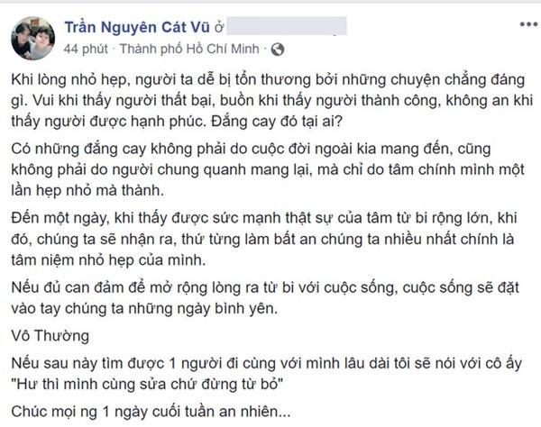 Trương Quỳnh Anh xác nhận từng cố gắng tái hợp nhưng bất thành, Tim liền đăng dòng trạng thái đầy ẩn ý-1