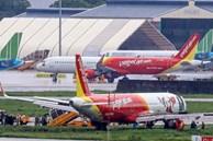 Máy bay lăn lệch đường băng, sân bay Tân Sơn Nhất tạm dừng hoạt động