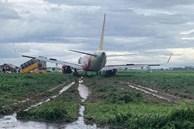 Tạm thu bằng lái 2 phi công điều khiển máy bay hạ cánh trượt khỏi đường băng tại Tân Sơn Nhất