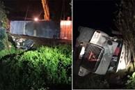Xe container đè xe limousine bẹp dúm ở Quảng Ninh: 3 nạn nhân tử vong