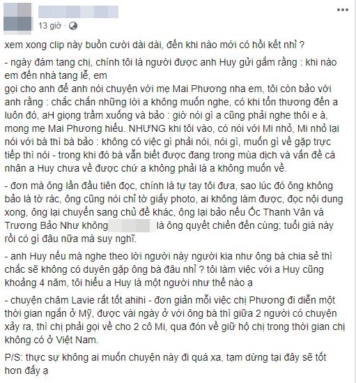Quản lý cũ tiết lộ sự thật về cuộc điện thoại của Phùng Ngọc Huy trong tang lễ diễn viên Mai Phương-1