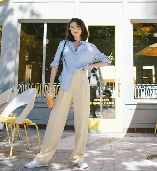 Với một chiếc áo sơ mi, nàng công sở vẫn mặc đẹp suốt cả tuần nhờ 7 công thức này-23