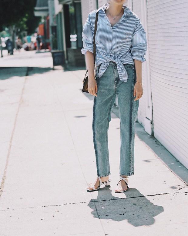 Với một chiếc áo sơ mi, nàng công sở vẫn mặc đẹp suốt cả tuần nhờ 7 công thức này-24