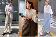 Với một chiếc áo sơ mi, nàng công sở vẫn mặc đẹp suốt cả tuần nhờ 7 công thức này