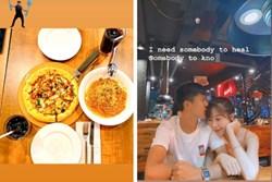 Sau trận thắng Hà Nội FC, Phan Văn Đức liền đưa vợ đi 'hẹn hò' và ăn uống cực tình cảm