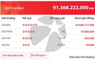 Độc đắc Vietlott 'nổ' hơn 91 tỷ đồng, 2 tỷ phú may mắn lộ diện