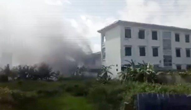 Hà Nội: Chập điện gây cháy trường mầm non-1