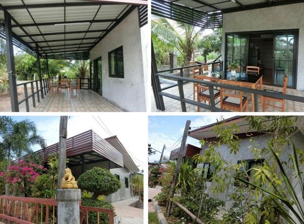 Ngôi nhà cấp 4 xây dựng đơn giản nhưng sở hữu khoảng sân rộng đủ để ngắm trọn vẻ đẹp xanh tươi của thiên nhiên xung quanh-2