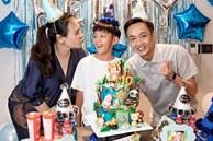 Cường Đô la và vợ cùng tổ chức sinh nhật cho Subeo, vòng 2 đã lớn rõ của Đàm Thu Trang gây chú ý