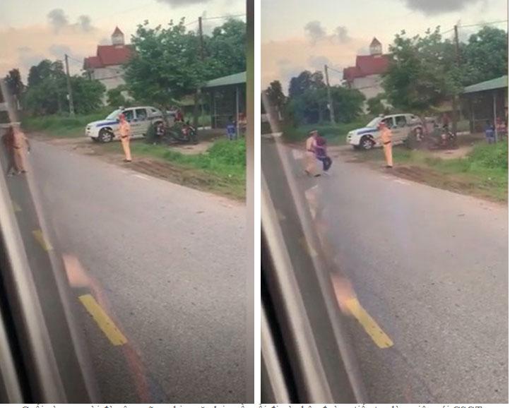 Người đàn ông cởi quần ăn vạ giữa đường rồi lời qua tiếng lại với CSGT-2
