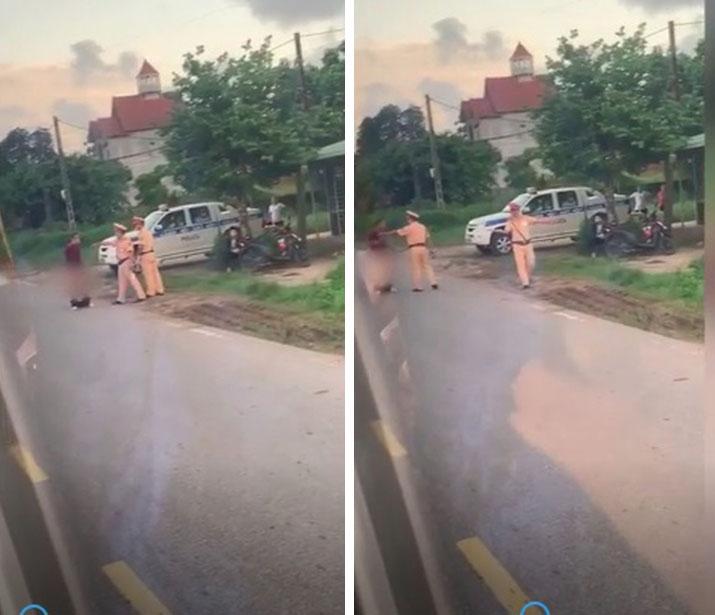 Người đàn ông cởi quần ăn vạ giữa đường rồi lời qua tiếng lại với CSGT-1