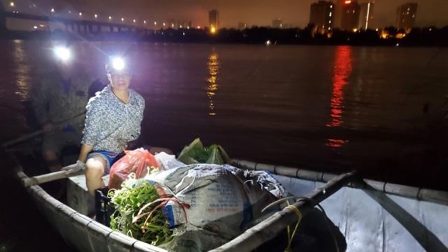 Dậy từ 2 giờ hái rau bí, bà trùm kiếm tiền triệu nơi bãi giữa sông Hồng-1
