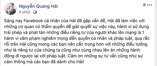 Quang Hải bị hack facebook, những cô gái liên quan trong tin nhắn riêng tư có được báo công an?-2