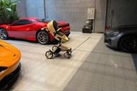 Cường Đô La khoe chiếc 'siêu xe' đầu tiên dành tặng con đầu lòng giữa anh và Đàm Thu Trang