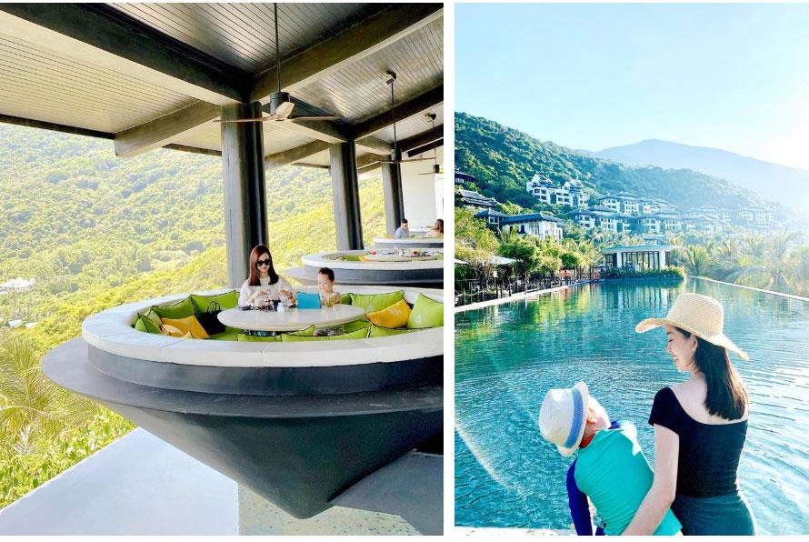 Đi nghỉ dưỡng ở resort sang chảnh tránh nóng, Ly Kute lại gây sốt vì chụp ảnh chung với mẹ ruột trẻ đẹp như 2 chị em-2