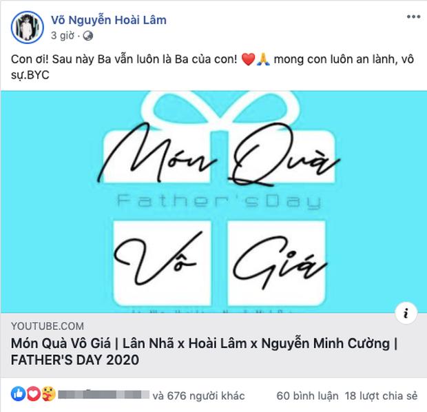 3 tiếng trước khi Bảo Ngọc công khai ly hôn, Hoài Lâm đăng status đầy ẩn ý bằng lời nhắn gửi tới các con-1