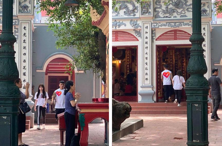 Quang Hải - Huỳnh Anh dắt tay nhau đi lễ Phủ Tây Hồ, chính thức trả lời thắc mắc tình về nơi đâu của dân mạng-3