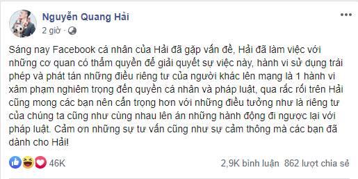 Lộ tin nhắn được cho là đích danh Quang Hải gửi đến nhóm hacker, ngầm thông báo đã tìm ra thủ phạm hack tài khoản Facebook của chàng cầu thủ trẻ?-2