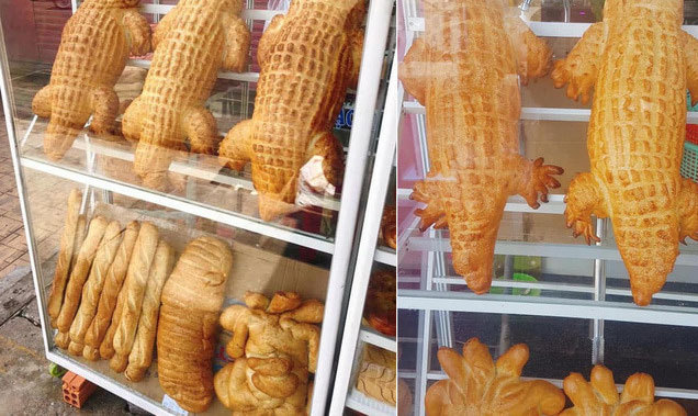 Bánh mì cá sấu khổng lồ gây bão, ngày bán trăm chiếc-1