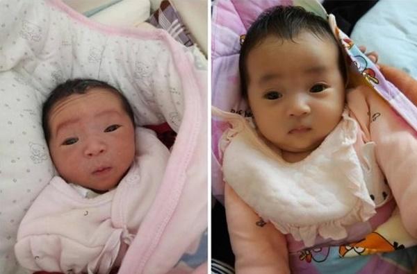 Mẹ muốn khóc khi con gái mới sinh trông như củ khoai môn, 3 tháng sau bé có pha thay đổi ngoại hình khiến ai cũng ngỡ ngàng-4