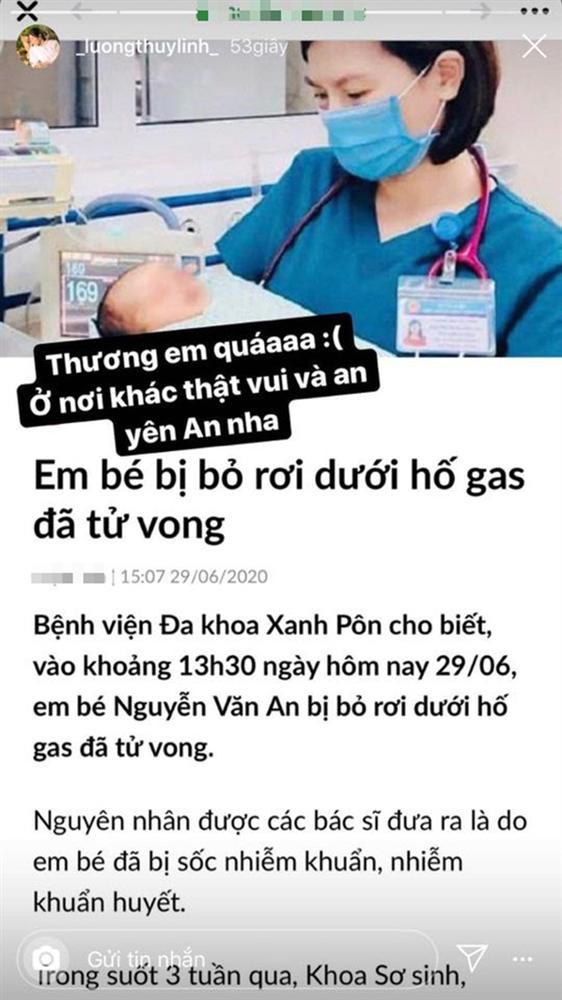 Đỗ Mỹ Linh, Lương Thuỳ Linh xót xa khi hay tin em bé bị bỏ rơi ở hố gas đã qua đời: Về với thiên đường con nhé!-4