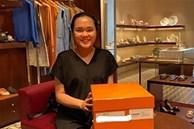 Bà bầu Quỳnh Anh khiến fan 'giật mình' vì khuôn mặt khác lạ, còn khoe mua túi Hermes để đựng bỉm cho con