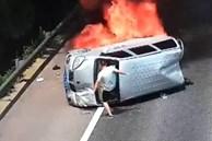 Người đàn ông liều mạng cứu 3 người bị kẹt trong chiếc xe đang cháy