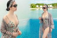 Hoa hậu Giáng My gây sốt khi diện đồ bơi khoe vòng 1 bốc lửa, ai tin đây là vóc dáng của mỹ nhân U50?