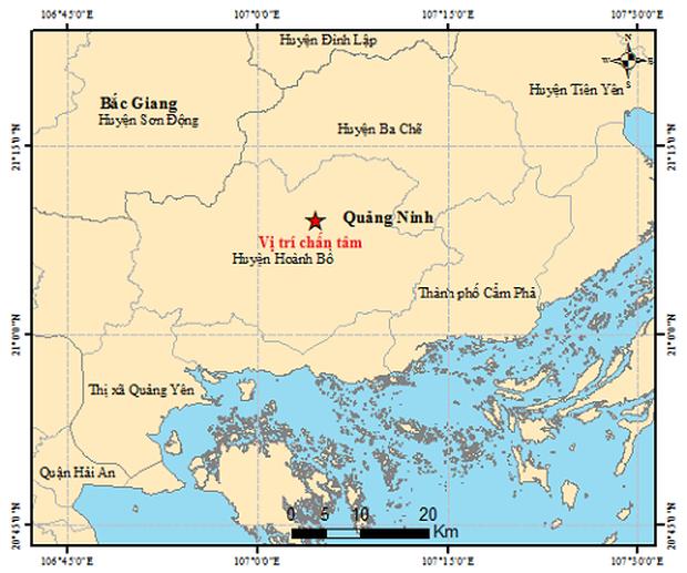 Xảy ra động đất 2,6 độ richter ở Quảng Ninh-1