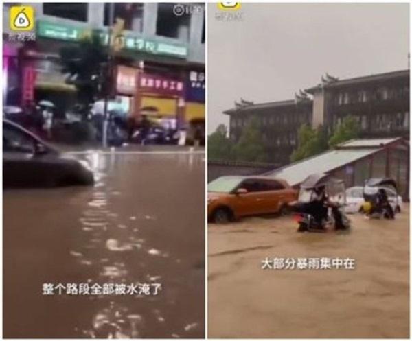 Phượng Hoàng cổ trấn ở thượng nguồn đập Tam Hiệp bị ngập lụt-2