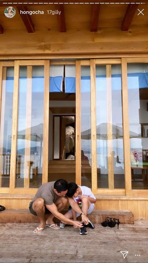Hà Hồ khoe ảnh gia đình du lịch sang chảnh, bố dượng Kim Lý chiếm trọn spotlight vì đặc biệt chăm sóc Subeo-2