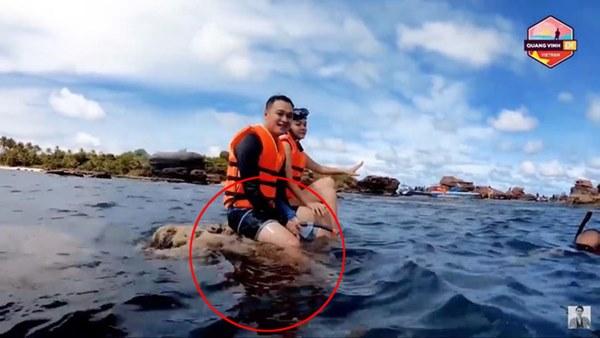 Quang Vinh và Phạm Quỳnh Anh bất ngờ bị lên án vì hành động phá hoại tài nguyên thiên nhiên biển-2