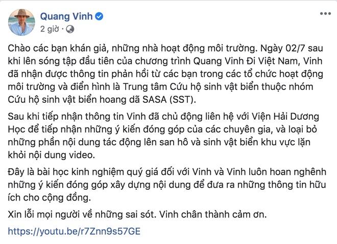 Quang Vinh bất ngờ lên tiếng xin lỗi về sự cố ngồi lên rạn san hô khi quay clip du lịch ở Phú Quốc-3