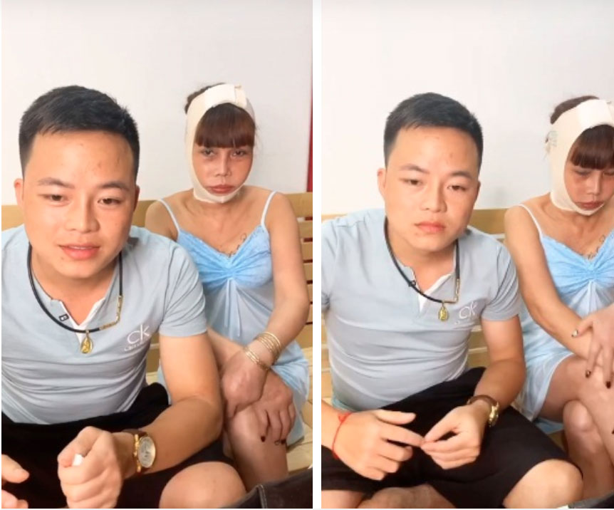Cô dâu 63 tuổi Cao Bằng mặt băng kín mít, miệng méo xệch ngồi cạnh chồng trẻ khiến dân mạng vừa giận vừa thương-2