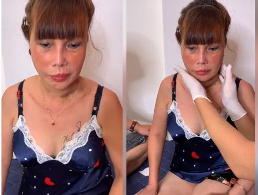 Cô dâu 63 tuổi Cao Bằng mặt băng kín mít, miệng méo xệch ngồi cạnh chồng trẻ khiến dân mạng vừa giận vừa thương-3