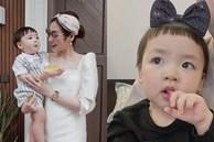 Á hậu Tú Anh đăng ảnh chứng minh con trai xinh là giống mẹ, né được 'kiếp đẻ thuê'