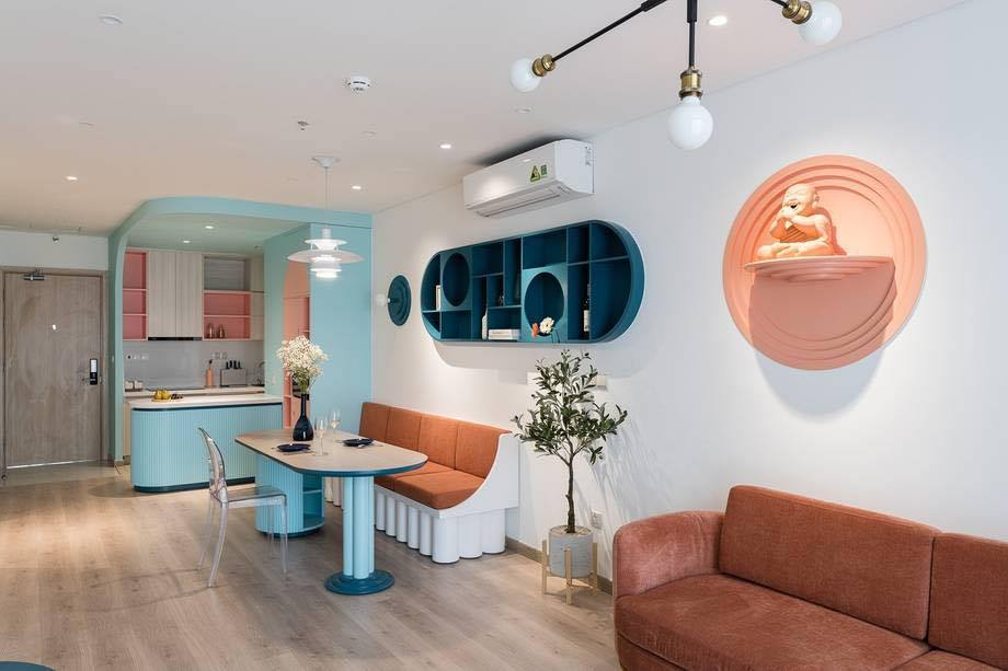 Thiết kế nội thất màu kẹo ngọt, hạn chế góc cạnh cho nhà có trẻ nhỏ của đôi vợ chồng Sài Gòn-7