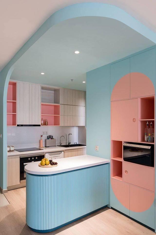Thiết kế nội thất màu kẹo ngọt, hạn chế góc cạnh cho nhà có trẻ nhỏ của đôi vợ chồng Sài Gòn-4