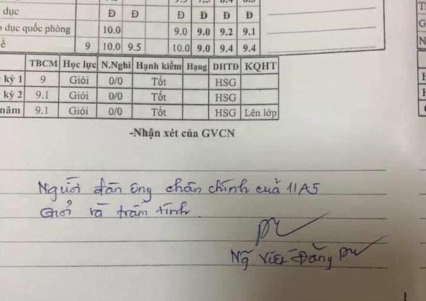 Thầy giáo phê sổ liên lạc chọc đúng điểm yếu của từng học sinh nhưng sao lại đáng yêu đến thế này!-4